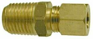 LEAD FREE BRASS 1/4X3/8 CONNECTOR TUBE TO MPT
